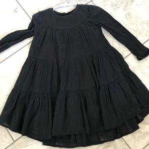 OLD NAVY BLACK GIRLS DRESS/ LONG SLEEVES